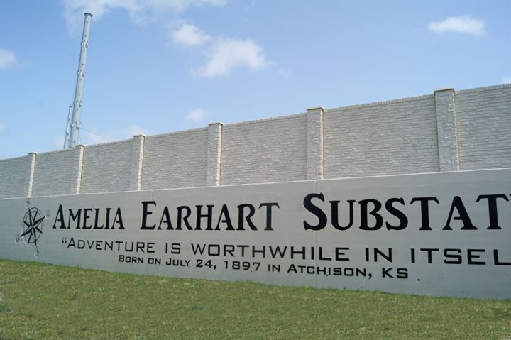Amelia Earhart Substation & Commemorative Wall